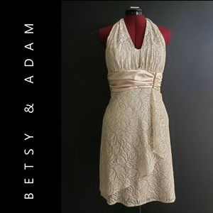Betsy and Adam Woman Backless Lace Dress Medium